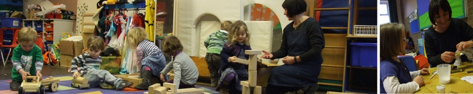 Nicky at Olive Shapley Playgroup in Didsbury Manchester